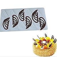 Guangqi DIYケーキデコレーションツール用Holle天使の翼形状シリコンチョコレート金型ケーキ図形キッチンBakingチョコレートツール
