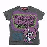 crazy gogo!! CRAZY ROCKS T チャコール 5(110-115)