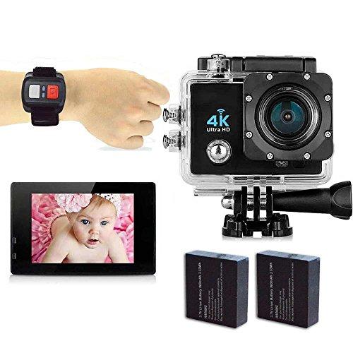 OSEI スポーツカメラ 30メートルまで防水カメラ 170度広角 4K(30FPS)アクションカメラ 多種の撮影モード選択可能 4K(30FPS)/1080P(90FPS)/720P(90FPS) 日本語対応 (リモコン+予備バッテリー)