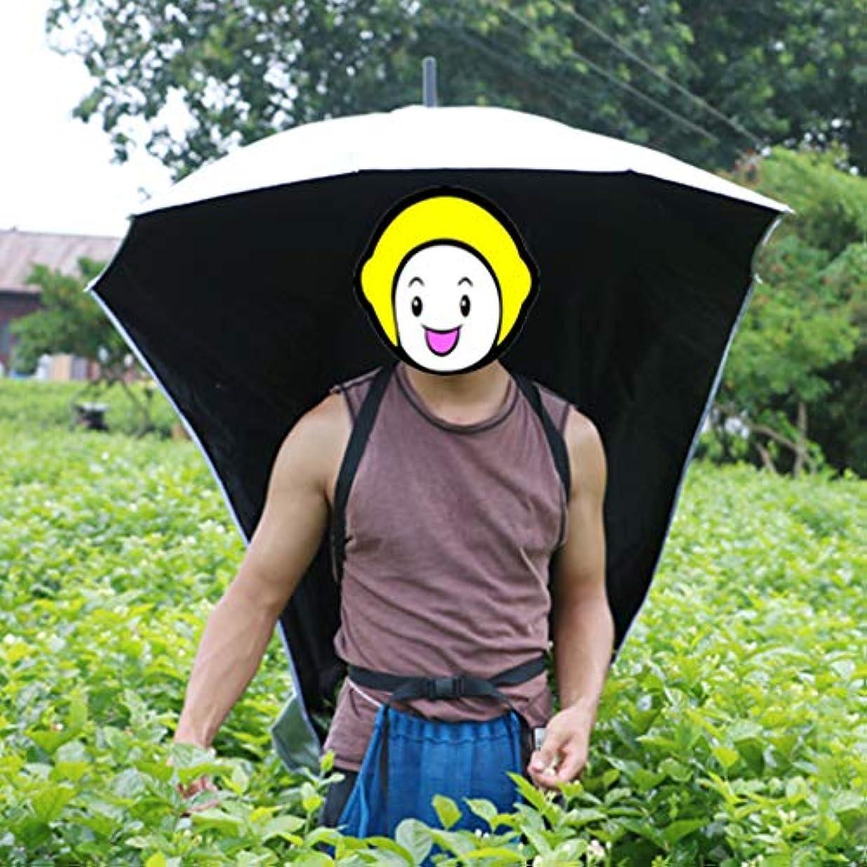 黄ばむ一月金曜日農作業かさ 背負う 熱中症対策 背中に装着傘 両手が使える 日よけ 帽子 日差しカット UVカット ガーデニング 釣り
