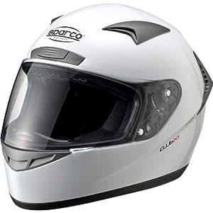 sparco スパルコ ヘルメット CLUB X1 (ホワイト, XSサイズ'(頭囲:53-54cm))