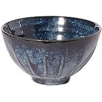 みのる陶器 けずり型飯碗 藍の雪 047-718734