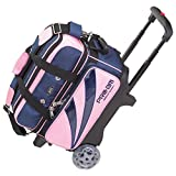 ABS ボウリング バッグ B16-1380 ピンク/ネイビー ボール 2個用 ショート カート ボウリング用品 ボーリング グッズ