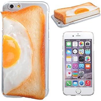 iPhone6s iPhone6 ケース カバー 食品サンプル クリアケース ハードケース/パン/右