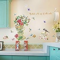 ウォール家具リビングルームのための花と蝶の装飾で壁Stickeホームデコレーションクリエイティブなファッション工場
