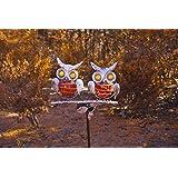 Moonrays 90036 Solar Metal Owls Friends Stake Light
