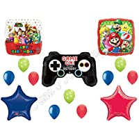 Super Mario BrothersビデオゲームBirthday Balloons Decoration Suppliesパーティーby Anagram