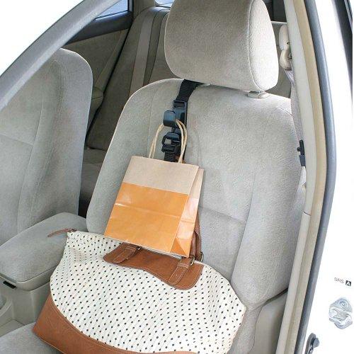 ナポレックス 車用収納フック シートフック ブラック 耐荷重5kg 買い物袋の荷崩れ防止 汎用 Fizz-963
