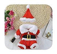 pump-kawayi クリスマス猫服ペット犬猫衣装サンタクロース衣装冬クリスマスペットコートアパレルコットン服用猫犬27S2-Santa Costume Suit-M
