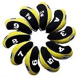 Best Anduxゴルフクラブ - Andux ゴルフ クラブ アイアンカバー ヘッドカバー 10個セット 黄色/ブラック MT/S11 Review