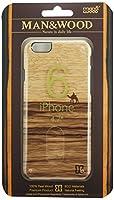 【日本正規代理店品】Man&Wood iPhone 6s/6 天然木ケース Terra ブラックフレーム バータイプ I4474i6