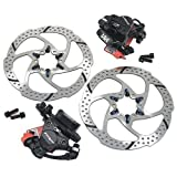 TRP HY/RD Road Hydraulic Disc Brake Set 160mm with Rotor, Front and Rear, Black, MH1700