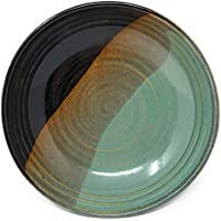 Holman Pottery Single Servingパスタボウルボウル、グリーンEarth