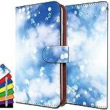 KEIO Xperia Z5 SOV32 ケース 手帳型 綺麗 SOV32 手帳 カラフル Xperia カバー Z5 カバー SOV32 カバー 氷 空 雲 エクスペリア 手帳型ケース SOV 手帳型ケース 32 手帳型ケース ittn氷空雲t0401