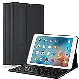 KuGi iPad Pro 10.5 キーボード 専用 Bluetooth キーボード ケース スタンド機能カバー Apple iPad Pro 10.5インチ ワイヤレス 一体型 脱着式 手帳型 PUレザーケース付き 電池内蔵 持ち運び便利 無線キーボード アップル iPad Pro 10.5インチ 対応 ブラック