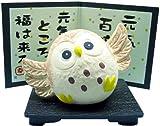萬古焼 元気 ふくろう (小) 14506