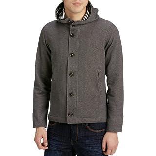 Cotton Jersey Raised-neck Hooded Blouson 1227-137-0216: Gray