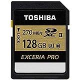 TOSHIBA SDXCカード 128GB UHS-II U3対応 (最大読出速度270MB/s 最大書込速度250MB/s) 日本製 (国内正規品) SDXU-C128G