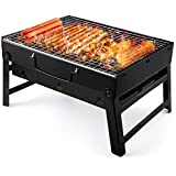 WSJTT Charcoal Grill Portable Lightweight Simple Charcoal Grill Perfect Foldable Premium BBQ Outdoor Stainless Steel Smoker BBQ for Picnic Garden Terrace Camping Travel