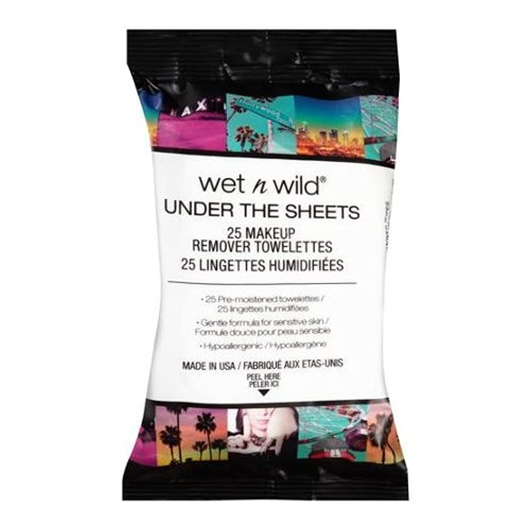 ダイヤル驚いたことに山岳(6 Pack) WET N WILD Under the Sheets Makeup Remover Wipes - 25 Towelettes (並行輸入品)