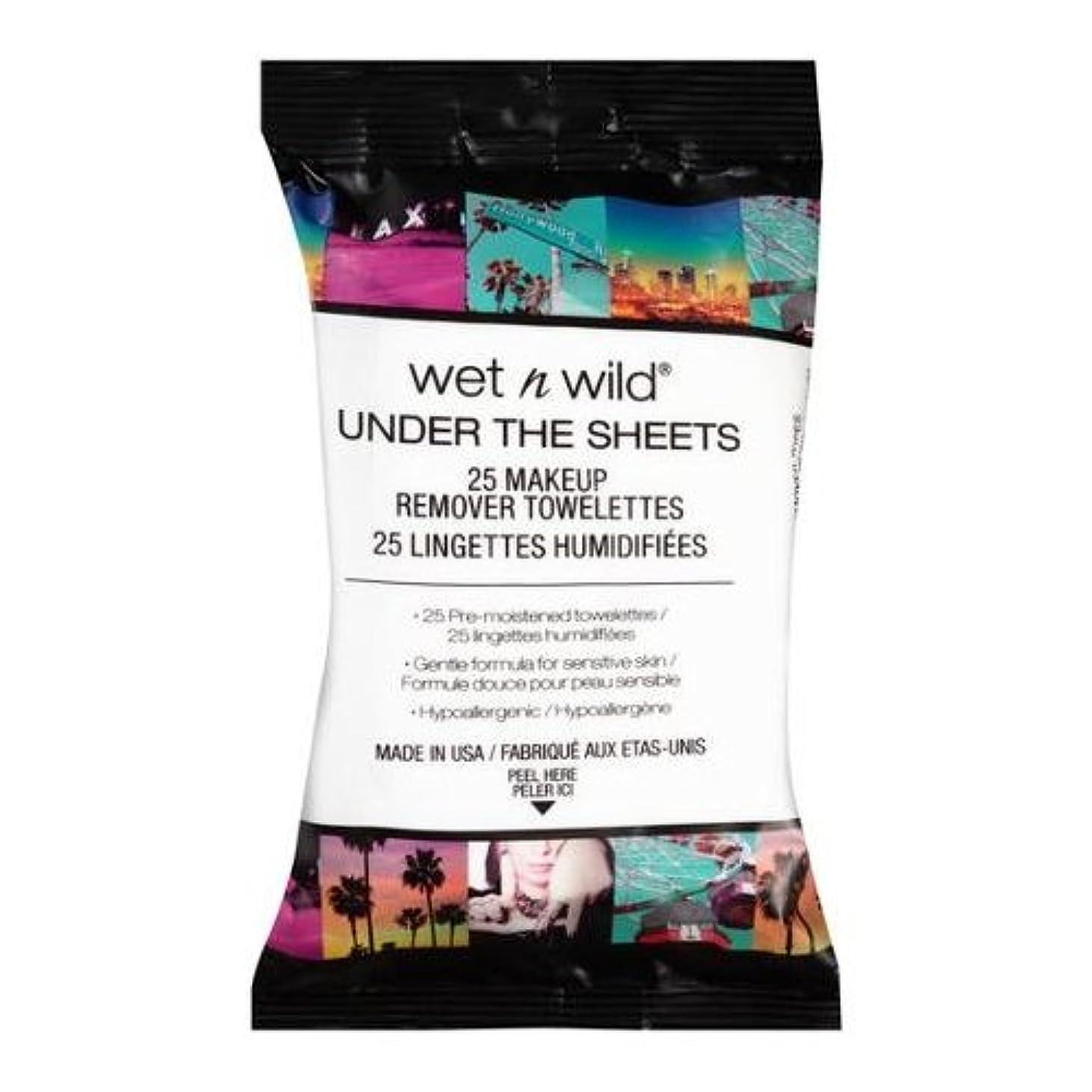 ほのめかすプレートセクション(3 Pack) WET N WILD Under the Sheets Makeup Remover Wipes - 25 Towelettes (並行輸入品)