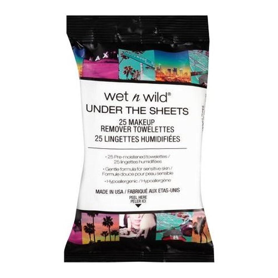 ボンド説明的ライナー(6 Pack) WET N WILD Under the Sheets Makeup Remover Wipes - 25 Towelettes (並行輸入品)