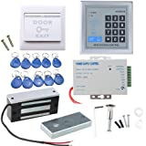 Door Access Control System, AGPtEK RFID Home Security Kit with 60kg 130LB Electromagnetic Lock, Power Supply, Proximity Door