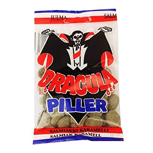 ドラキュラ サルミアッキ キャラメル 辛口 キャンディー 65g x 1袋セット Dracula Piller スゥエーデンのお菓子です  [並行輸入品]