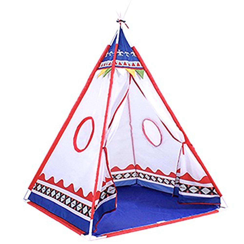 プリンセスTeepee TentインドPlay House Indoor & Outdoor Play Tent with 23 ft LEDスター文字列ライト、コンパクトパック