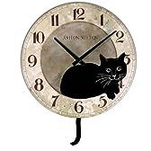 【並行輸入品】壁掛け時計 アシュトンサットン しっぽを振るネコ/Ashton Sutton Kate