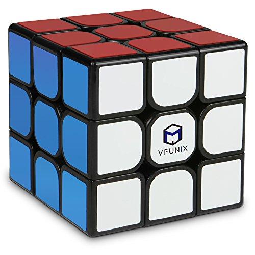 VFunix スピードキューブ 磁石内蔵の競技用 3×3 キューブ 世界基準配色 ステッカー 磁力 パズル スタンド付き 回転スムーズ 抜群の安定感