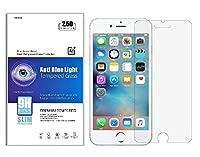 iNTE- Mobile Glasses【Amazon限定・即日出荷】ブルーライトカット90% 強化ガラス iPhone 6P / 6S P 液晶保護フィルム ブルーライト カット ガラスフィルム 90% カット 薄さ0.3mm 表面硬度9H・ラウンド処理・飛散防止処理 新設計 3D touch 対応 アイフォン6プラス アイフォン6Sプラス iNTE-MG 004-6P