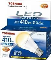 TOSHIBA E-CORE LED電球 ミニクリプトン形5.4W 「明るさ重視タイプ」 電球色相当 LDA5L-E17 口金直径17mm
