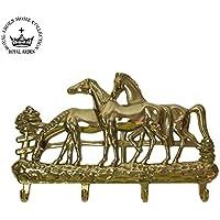 ロイヤルアーデン 真鍮 キーフック4連 馬 84401