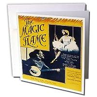 BLNヴィンテージSong炎のマジックシートカバーReproductions–Ballerina inホワイトon a Swing Man Playingバンジョー–グリーティングカード Individual Greeting Card