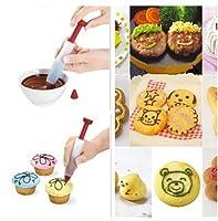 ZoCenterShop(TM) シリコンケーキビスケットクッキーペストリーペンフードライティングペンチョコレートペンツールS