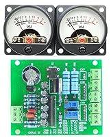 VUメーター組み込みキット 丸型・アナログメーター&電子基板 オーディオ用