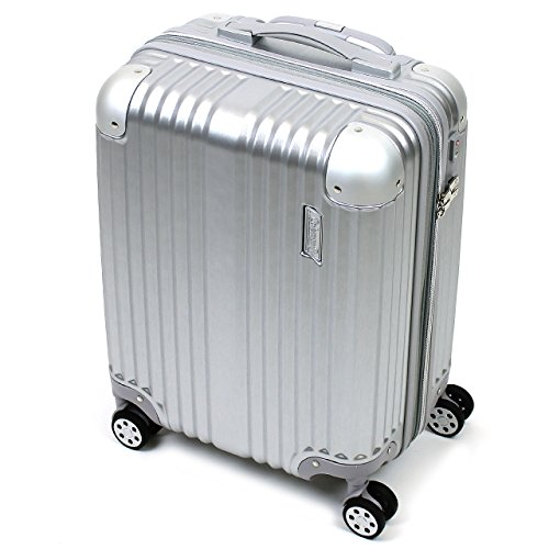 [Coleman(コールマン)] スーツケース 38+8L 46cm 2.9kg 機内持ち込み 14-59 ヘアラインシルバー