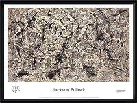ポスター ジャクソン ポロック Number 28 2016 額装品 ウッドハイグレードフレーム(ブラック)