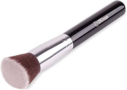 DUcare ドゥケア 化粧筆 ファンデーションブラシ フェイスブラシ 使いやすい曲面カットタイプ 最高級のタクロンを使用