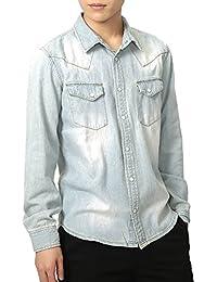 (リピード) REPIDO デニム シャツ メンズ 長袖 シャツ カジュアル 薄手
