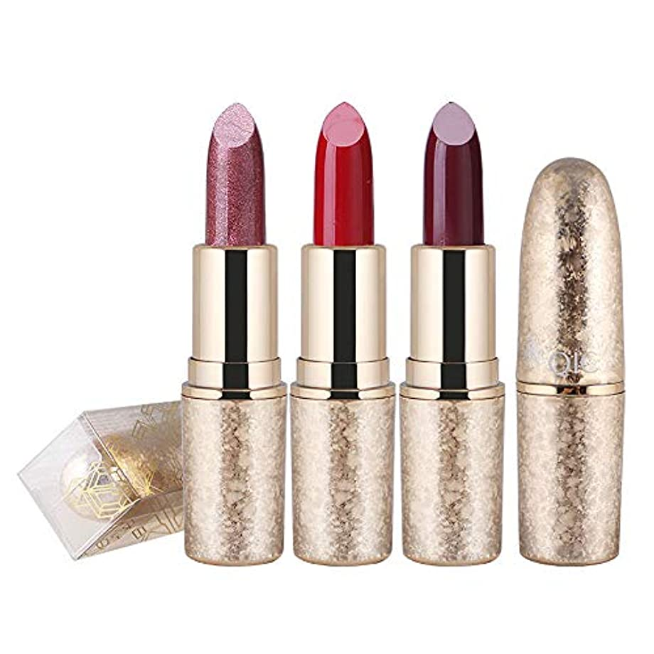 一過性聖域イディオム1ピース6色口紅用女の子女性防水長持ち保湿化粧口紅 (3)