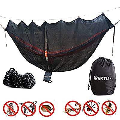 Hammock Bug Net 11 Feet Long Mosquito Net for 360 Degree Protection Keep Out Noseeums Includes Ridge Line Black Compatible with All Hammock Brands