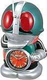 リズム時計 仮面ライダー おもしろ 目覚まし キャラクター 時計 音声 アラーム グリーン 4SE502RH05