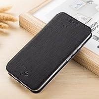 GUANHAO Nokia 8 Sirocco 手帳型 ケース, PUレザー+ソフトTPU カード収納 スタンド 機能 衝撃吸収 マグネット 保護カバー ために Nokia 8 Sirocco (ブラック)