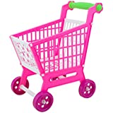 Perfeclan Shopping Grocery Cart – Toy Shopping Cart and Pretend Food Playset Accessories – Kids Toddlers Early Development Toy