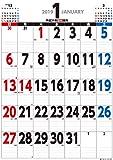 トライエックス ジャンボ スケジュール B2タテ型 2019年 祝日訂正シール付き カレンダー CL-600 壁掛け 75×52cm 書き込み 大きい