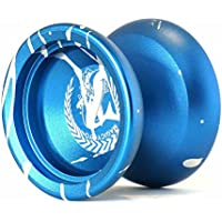マジックヨーヨー,MAGIC YOYOシャーク名誉N12フィンガースピンヨーヨーサンドブラスト仕上げ マジックヨーヨーサック付き 青+シルバー
