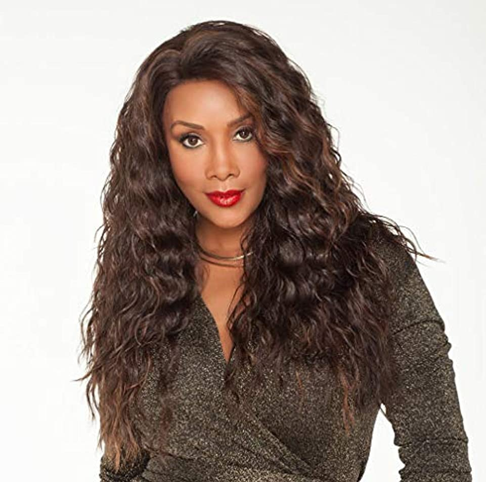 体せがむ観点女性ウィッグ150%密度実体波耐熱性合成繊維ベビーヘア未処理人毛