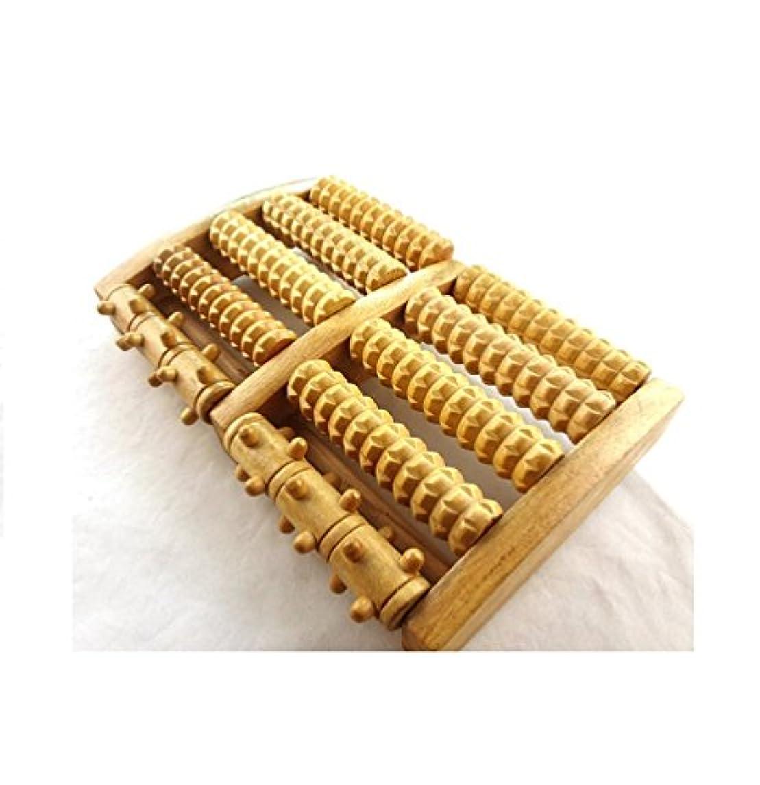 ゴミガードメロンIPINDO(イッピンドウ)フットマッサージ器 足つぼマッサージ 足裏 ツボ押し ローラー 木製 リラクゼーション